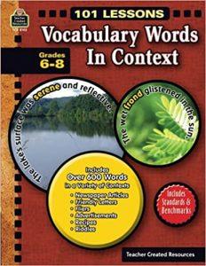 Vocabulary Words in Context: Grade 6-8