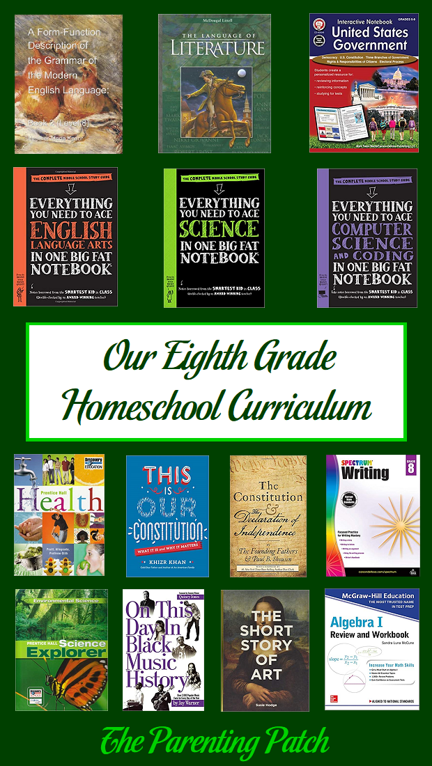 Our Eighth Grade Homeschool Curriculum