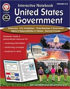 Interactive Notebook: United States Government Resource Book Grade 5-8