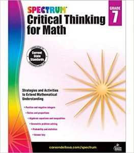 Spectrum Critical Thinking for Math Workbook Grade 7