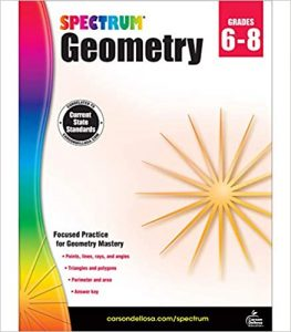 Spectrum Geometry Workbook Grade 6-8